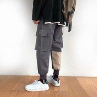 2021 Mode chaud Jogging Homme Pantalons Streetwear Pantalon Pantalon Casual Hip Hop Hook Hook Harajuku Pantalon de survêtement Big Pocket Pantalons de cargaison Hommes