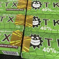 Зеленые 10 шт. TKTX Tattoo Cream 40% Оригинальные 10G перед постоянным пирсингом Макияж Microblading Бровей губы Кожа тела