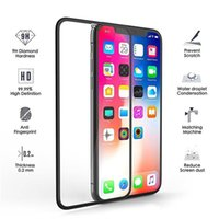 Full Cover Tempered Glass Screen Protector Black border for iPhone 12 mini pro max XR X XS MAX 6 7 8 11 pro max 9D 9H 0.3mm with Retail Box