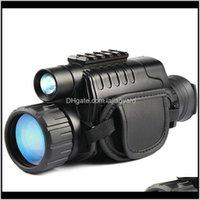 Инфракрасный монокулярный 5x40 Zoom Goggles 200M Расстояние ночь смотрит на наблюдение и цифровая ИК-охотничье место D 7SI6F Телескоп бинокль T0SMD