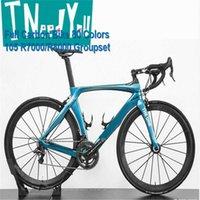 Blue RB1K Один из дорожных углерода полный велосипед глянцевый BB86 с 105 R7000 Groupset 50 мм дорожный колес