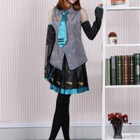 Vocaloid Hatsune Miku Cosplay Anime Costume Halloween Women Girls Dress Full Set Uniform and Many Accessories64GW