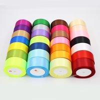 36 Kolor 25mm 25yard / Roll Handwork Poliester Silk Satin Wstążki Bow Home Party Dekoracje DIY Boże Narodzenie Prezenty Zawijanie 986 V2