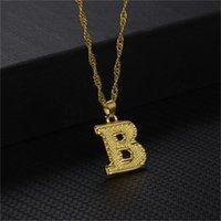 26 English Lettre Pendentif Colliers Love Alliage Collier Hommes Femmes Gold Plagant Chaîne Mode Originalité Bijoux 3YHA L2