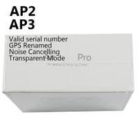 Высочайшее качество воздух GEN 3 AP3 наушники TWS H1 CHIP беспроводной зарядки Bluetooth наушники PODS AP2 2-й переименовать GPS для AirPods iPhone 12 Pro Max