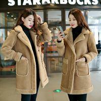 Women's Fur & Faux KMETRAM Coat Female Lamb Long Coats Winter Jacket Women Clothes 2021 Korean Warm Suede Parka Chaqueta Mujer MY3376