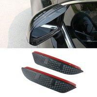For Nissan Navara Kicks 2017-2021 Car Side Rear View Mirror Rain Visor Carbon Fiber Texture Eyebrow Sun Shade Snow Guard Cover