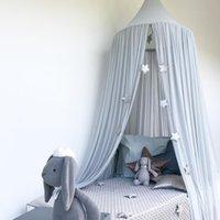 Bambini Baby Bed Bed Bedcover Bedcover Zanzariera Tenda Biancheria da letto Cupola Tenda in cotone Regno Unito Zanzariera Ragazze Delle Girls Della Stanza Decorazione Pest Controllo