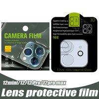 Geri Kamera Lens Ekran Koruyucuları Temperli Cam iphone 12 Mini 11 Pro Max XR XS 7 8 Artı Koruma Film Galsses Koruyucu Perakende Paketi
