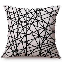 Geometric Stripe Home Divano Decorativo Federa Nordico Semplici linee nere ondulazioni all'ingrosso regalo di nozze cuscino cuscino cuscino / decorativo PI