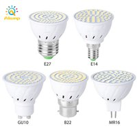 Lâmpada Spot Lâmpada GU10 MR16 E27 B22 E14 LED Lâmpada 220 V Spotlight Bulbos 48 60 80 80leds Indoor Bombillas Lampara