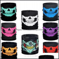 Designer Masks Housekee Organization Home & Gardenmti Function Seamless Bandana For Halloween Cosplay Party Decorations Skl Face Mask Outdoo