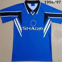 1994/1995 홈 레트로 축구 유니폼 클래식 Cantona 7 Scholes 18 Ince 8 Giggs 11 Ronaldo Camisa 1998/99 축구 셔츠 키트 Camiseta Futbol Shirts Maillot de Foot 1996/97