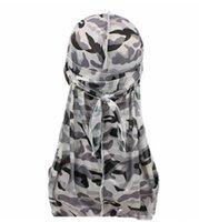 Scarves Silky Durag Women Flower Print Headwear Bandana Hat du Rag Long Tail Headwrap 2021 Hög Elastisk Spandex Turbaaaa6