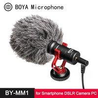 Boya By-MM1 Microfone CardioID Shotgun para iphone Android Smartphone Canon Nikon Sony DSLR Câmera de Câmera Câmera Câmara PC Mic