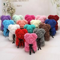 25 cm 38 cm Gül Teddy Bear Yapay Çiçek LED Dizeleri Dekorasyon Gül Ayı Düğün Kadınlar Için Sevgililer Günü Hediyeler Ev Dekorasyon CA21