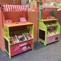 Simulazione per bambini Piccolo supermercato Vendita Scrivania Verdura Frutta Stand Cassa Registratore Set Family Convenience Store
