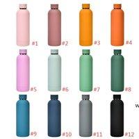 500ml vácuo isolado copos de água esportivos 304 aço inoxidável de aço inoxidável garrafa de água portátil frasco à prova de vazamento thermos copo DHD6295