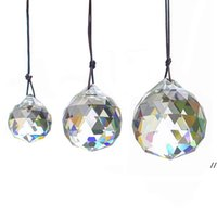 30 мм хрустальный шар призмы подвесные граненые хрустальные стеклянные призмы потолочные лампы освещения подсветки люстры капельки свадьба свадебный декор dwf6410