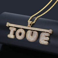 Custom Name Letter Necklace Mens Hip Hop Gold Silver Copper Necklaces DIY Combination Letter Pendant Necklace Jewerly
