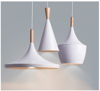 Nordic Vintage Wooden Pendant Lighting Ceiling Scandinavian Chandelier Lampshade White Hanging Living Dining Room For The Kitche
