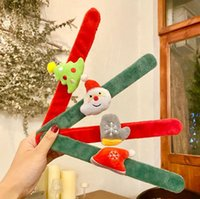 Christmas Bracelet Clap Circle Toys Kids Favor Gifts Santa Claus Christma Birthday Party Decor Theme DD653