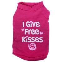 Dog Apparel FashionSmall Pet T Shirt Clothes Cat Puppy Summer - Rose Red XS