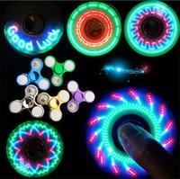 2021 Oyuncaklar Serin İplik En Soolest LED Işık Değişen Fidget Spinners Parmak Oyuncak Çocuklar Otomatik Değişim Desen Ile Gökkuşağı Yukarı El Spinner