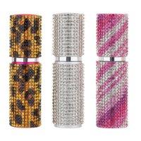 Storage Bottles & Jars Luxry Diamond 10ml Travel Perfume Atomizer Refillable Spray Aluminium Glass Empty Party Favors Wedding Gift Promotion