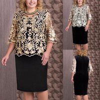 Plus Size Dresses For Women Sequin Short Midi Dress Ladies Cocktail Evening Party Robe Fleurie Ropa Mujer Verano 2021