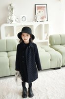 high quality girls long style coat Kids Fashion fall jacket Warm Autumn Winter toddler Clothing Children's outwears 2-14years old