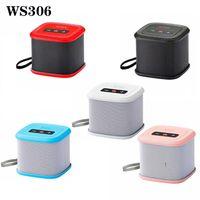 WS306 Kablosuz Bluetooth Hoparlör Mini Taşınabilir Hoparlörler FM Fiş Kart Çift Boynuz Duş Araba Handsfree PC Smartphone için Çağrı Müzik Emme Alma