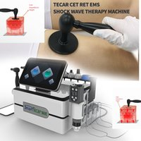 Portable 3 in 1 Tecar CET RET EMS Shock Wave Therapy Equipment For Body Pain Relief ED Treat Machine