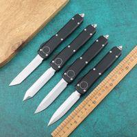 Двойной Действие Нож Открытый Кемпинг Нож 6061-T6 Черный Автоматический Нож Открытый Выживание EDC Складной Инструмент для кемпинга Инструмент