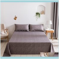 Bedding Supplies Textiles Home & Gardenbedding Sets King Size Set 4Pcs Double Bed Sheet Fitted With Elastic Solid Color Mattress Er Flat Dro