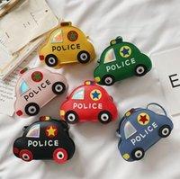 Boy Girls Police Car Cartoon Cute Body Handbag Boutique PU kids one Shoulder bags Birthday Christmas Gift