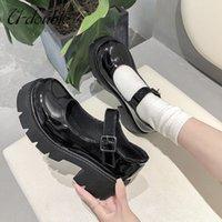 여성 클래식 일본 스타일 로리타 스니커즈 여성 빈티지 소프트 하이힐 플랫폼 신발 대학생 메리 제인 신발