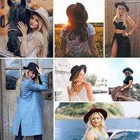 Furtalk فيدورا قبعة للنساء الرجال 100٪ الصوف الأسترالي فيلت واسعة بريم قبعة خمر الجاز فيدورا قبعة زوجين كاب الشتاء chapeau femmeg