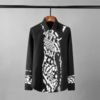 Luxury Leopard Cotton Grain Design Printed Long Sleeve Mens ...
