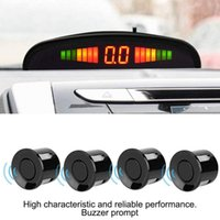 Car Rear View Cameras& Parking Sensors 2021 Universal 2W Radar LED Sensor With 4 Accurate Digital Display Of Obstacle Distance Alarm Parktro