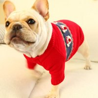 Dog Apparel Christmas Pet Red Sweater Cute Santas Claus Warm 2-legged Knitted Shirt Dogs Winter Clothes