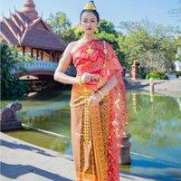 Thailandia Etnica Abbigliamento tradizionale Bride Filato Gild Brushing Festival Abbigliamento Alta qualità Costume atmosferico Dai