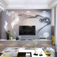 Wallpapers Custom Mural Wallpaper Smoke Clouds Wall Abstract Artistic Modern Minimalist Bedding Room TV Backdrop Paper