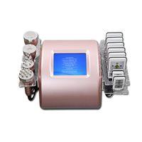 Portable 6 in 1 40k Ultraschallkavitation Abnehmen Ausrüstung Vakuum Pressotherapie RF 8 Pads Laserdiode Ultherapie Gewichtsverlustmaschine