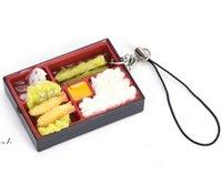 لطيف محاكاة السوشي مفتاح سلسلة كيرينغ وهمية اليابانية الغذاء مربع الحبل المفاتيح حقيبة يد قلادة الحبل حلقة رئيسية مضحك اللعب RRF11148