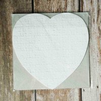 Party Favor Heart Shaped Puzzles 75pieces Sublimation Blank Pearl Jigsaw DIY Puzzle Wedding Birthday Valentine's Day Gift LJJP383 8NDB