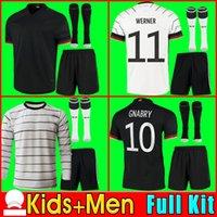 2021 ألمانيا 2020 كرة القدم جيرسي الرئيسية كيت هامليلز كروس دروس دروس ريوس مولر غوتز كأس أوروبا لكرة القدم قمصان زي الرجال + أطفال كيت adult kit set shorts socks