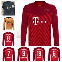 2021 2022 Bayern upamecano Langarm Fussball Trikots Roca Neuer Sane Gnabry Coman Müller Lewandowski München Goretzka 20 21 22 Fußball Full Shirt