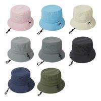 المرأة 8 ألوان الصلبة لون شاطئ قبعات في الهواء الطلق الصياد قبعة الشمس حماية القبعات Q25