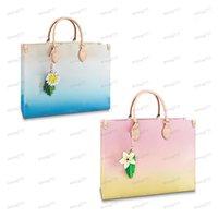 41cm 3Colour Derniers styles par la piscine Onthego fourre-tout sac gradient gradient sac à main cuir de haute qualité Summer Beach Style Glamour couleur